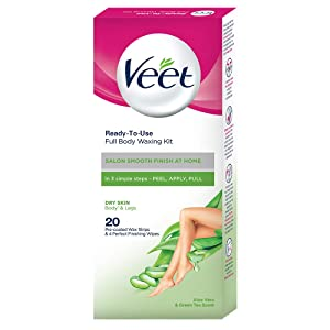 Veet Full Body Waxing Kit - Dry Skin (Pack of 1)