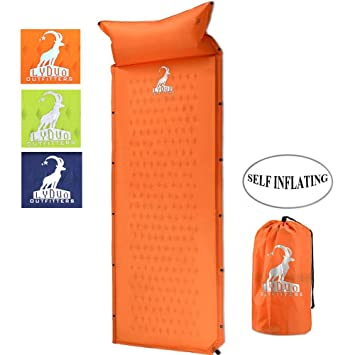 Esterillas Autoinflables Acampada Colchoneta Camping Colchón Automático Portátil Ligero para Dormir de Acampada Senderismo Camping,