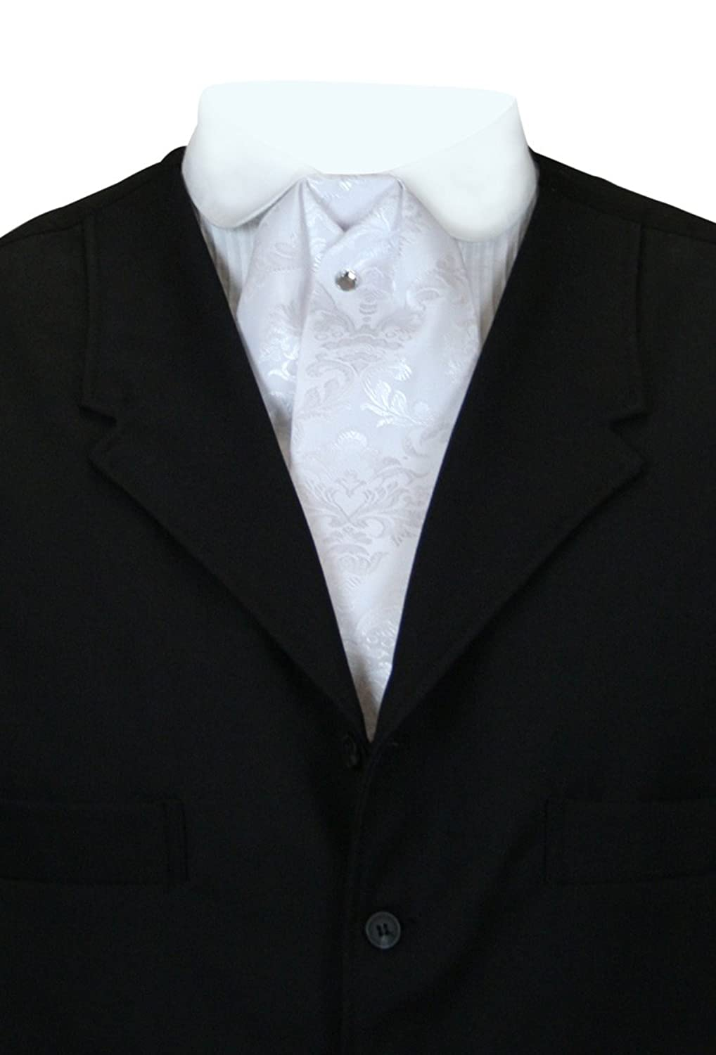Edwardian Titanic Men's Formal Tuxedo Guide Historical Emporium Mens Satin Floral Puff Tie $25.95 AT vintagedancer.com