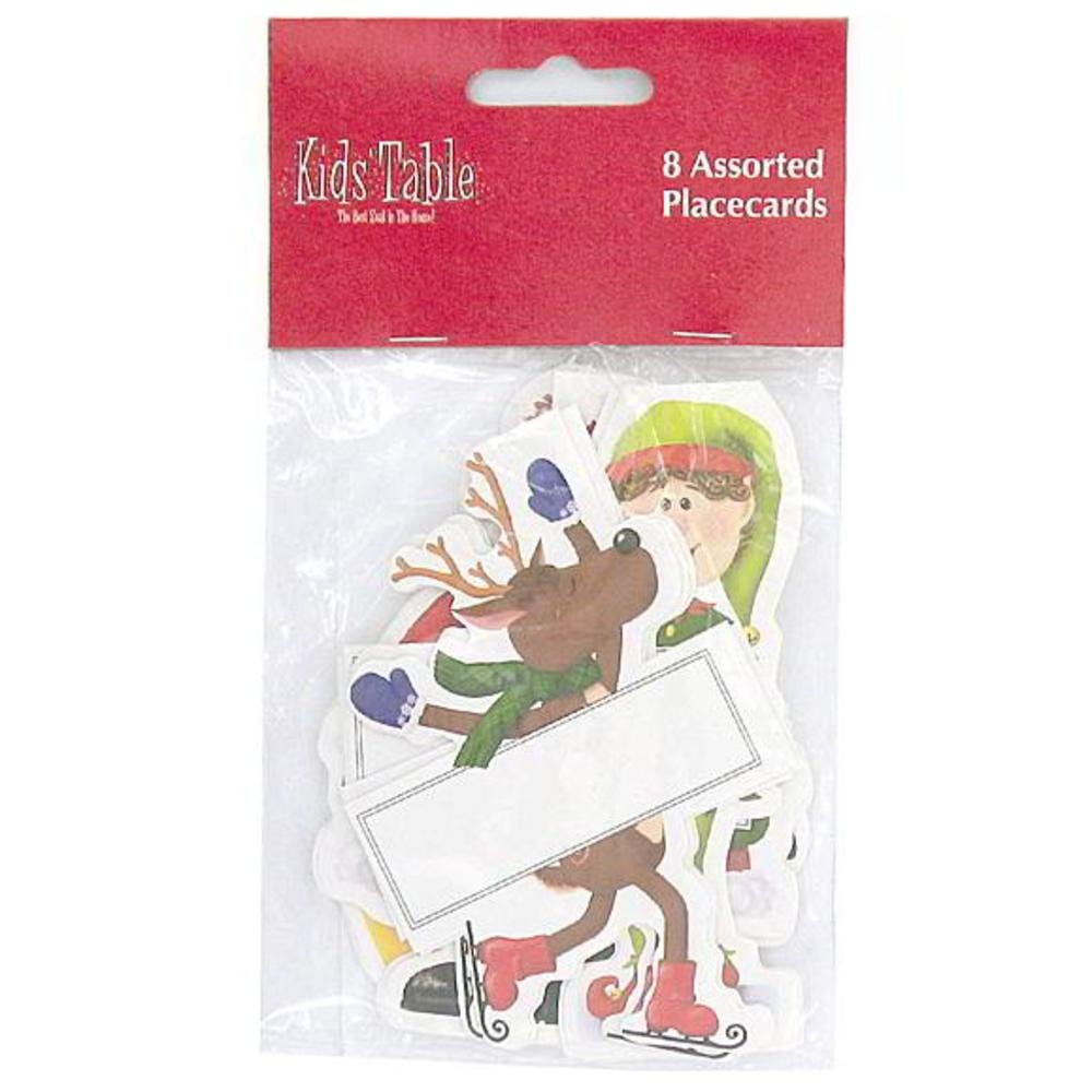 144 Holiday Fun kid's place cards; pack of 8