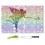 DiaNoche Designs Cutting Boards from DiaNoche Designs by Susie Kunzelman - Fairy Dance Rainbow, Large 15'' x 11'', Not Applicable