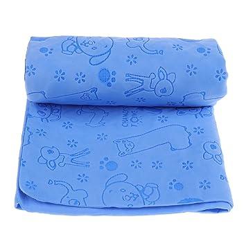 perfk Toalla de Baño Ultra Absorbente para Perros Gatos Absorción de Agua con Cuerpo de Mascota - Azul: Amazon.es: Deportes y aire libre