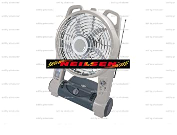 BREEZE BUDDY 3 IN 1 CORDLESS FAN WITH LED LIGHT & FM RADIO