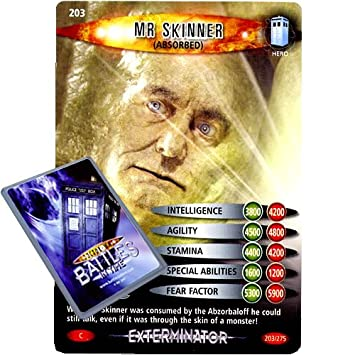 DR ABSORBED WHO BATTLES IN TIME NO 203 MR SKINNER