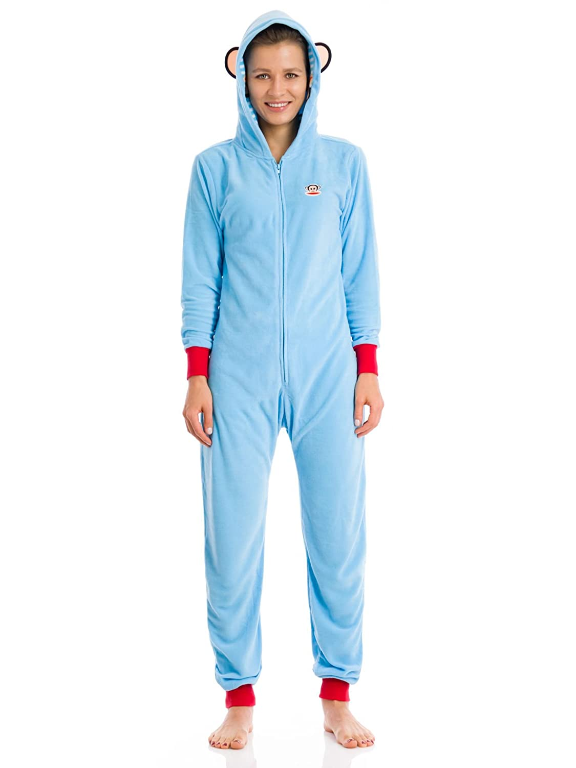 Paul Frank Julius Baby Blue Fleece Onesie Pajama for women
