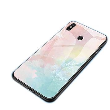 FLDONG - Carcasa de Cristal para Xiaomi Redmi 7 5 Plus K20 ...