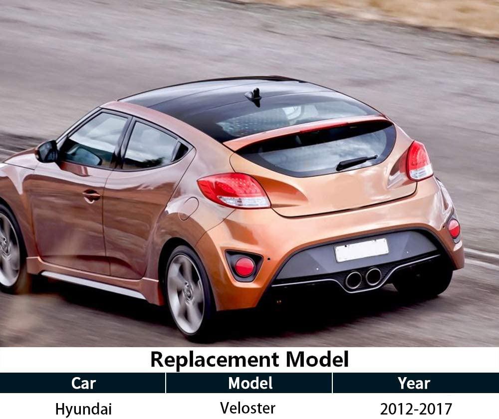MIKKUPPA Back Windshield Wiper Assembly Replacement for 2012-2017 Hyundai Veloster All Season Natural Rubber Cleaning Window Rear Wiper Arm Blade