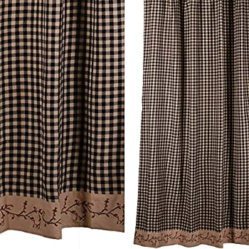 Chic VHC Brands 29222 Vincent Scalloped Shower Curtain 72x72