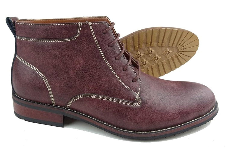 Ferro Aldo MFA-806020 Men's Wine Red Lace Up Work Dress Ankle Boots