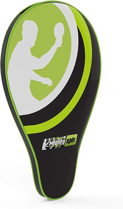 MightySpin Ping Pong Paddle Raqueta Caso – Bolsillo Frontal para ...