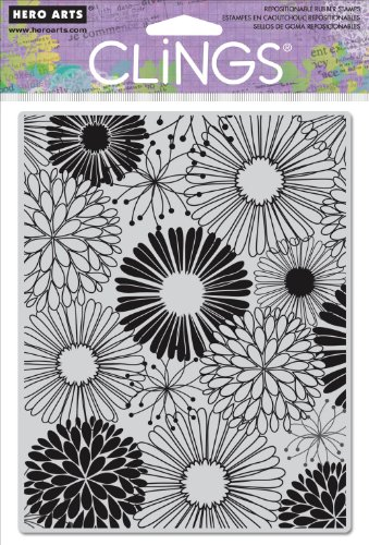 Hero Arts CG513 Cling Stamps, Everything Flowers