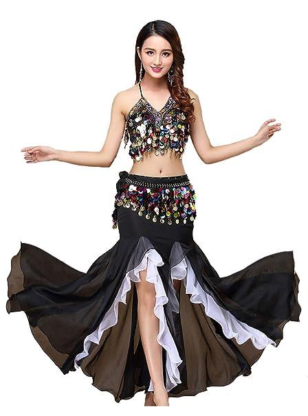 Amazon.com: ORIDOOR Vestido de danza del vientre para mujer ...