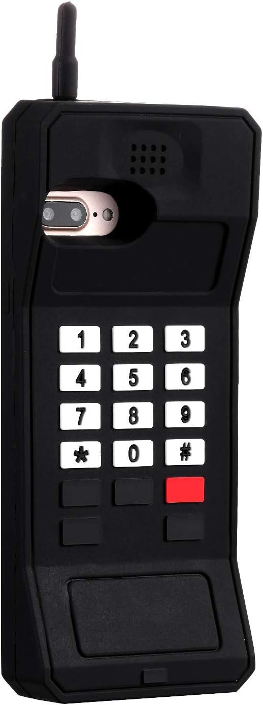 "Joyleop Black Retro 3D Classic Shaped Case for iPhone 8 Plus 7 Plus 6 Plus,Cute 3D Cartoon Cover,Kids Girls Soft Silicone Character Cellular Phone Cases,Funny Unique Protector iPhone 6s Plus 5.5"""