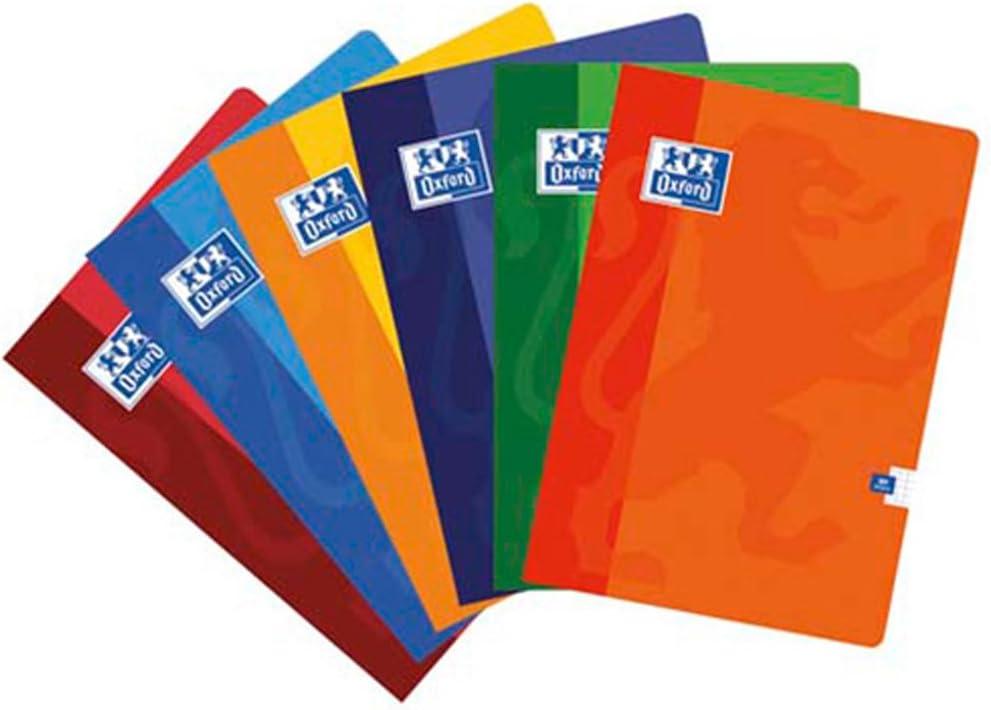 Oxford - Cuaderno A4 Pauta 2,5mm 48hj 90gr, multicolor (099443), 1 unidad, colores surtidos: Amazon.es: Oficina y papelería