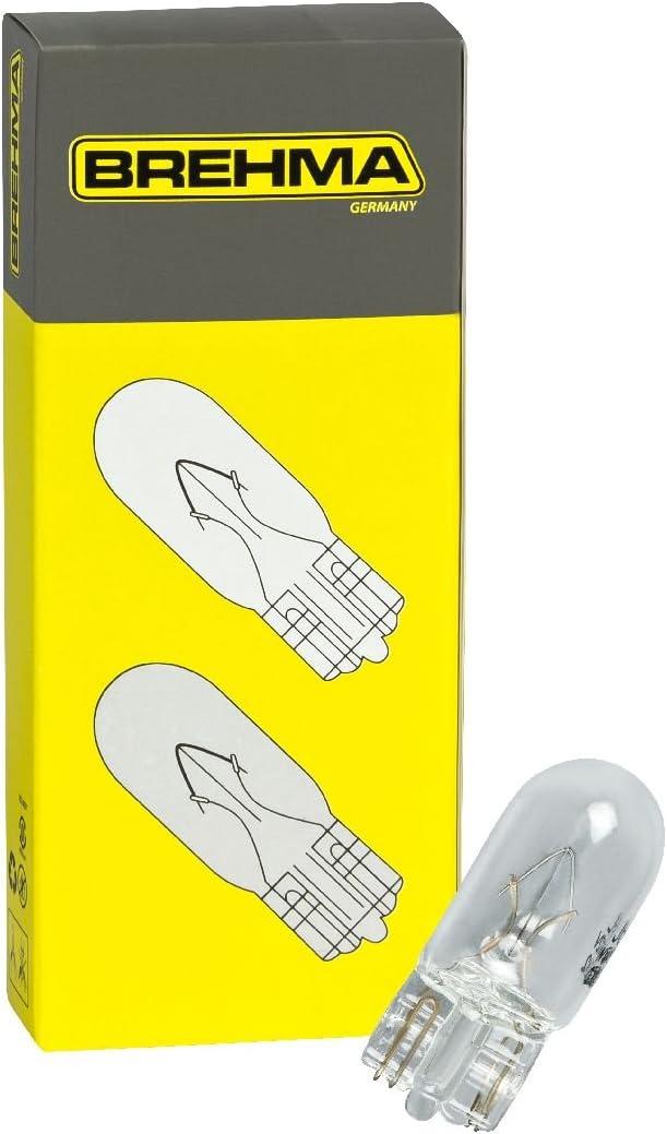 10x Brehma W5w Standlicht Autolampen T10 12v 5w Kennzeichenbeleuchtung Kofferraumbeleuchtung Innenraumbeleuchtung Auto
