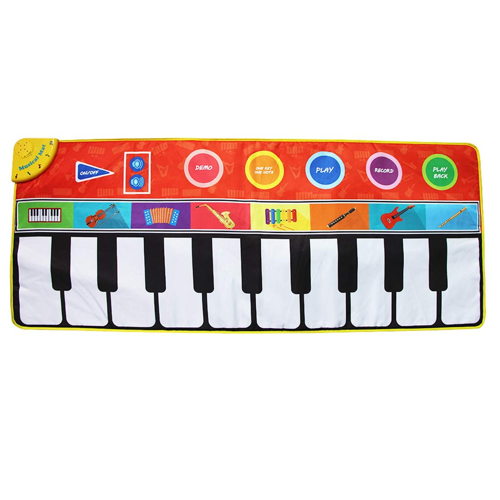 Music Play Mat - 19 Keys Piano Playmat - Carpet has Record, Playback, Demo, Play, Adjustable Vol. - Gift for Boys & Girls Babies by Unknown (Image #1)