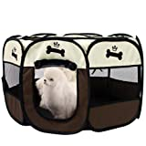 Hepeng Portable Foldable Pet Playpen and Carrying