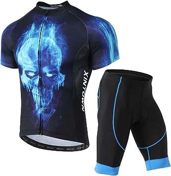SXSHUN Hombres Conjunto de Maillot de Ciclismo Camiseta de ...