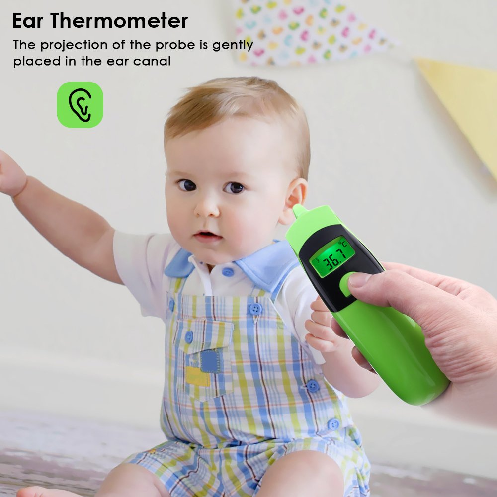 Adult,Objects with Fever Alarm and Memory Recall INLIFE Baby Thermometer Forehead and Ear Thermometer Digital Medical Infrared Thermometer Instant Scan Thermometers for Infant Baby