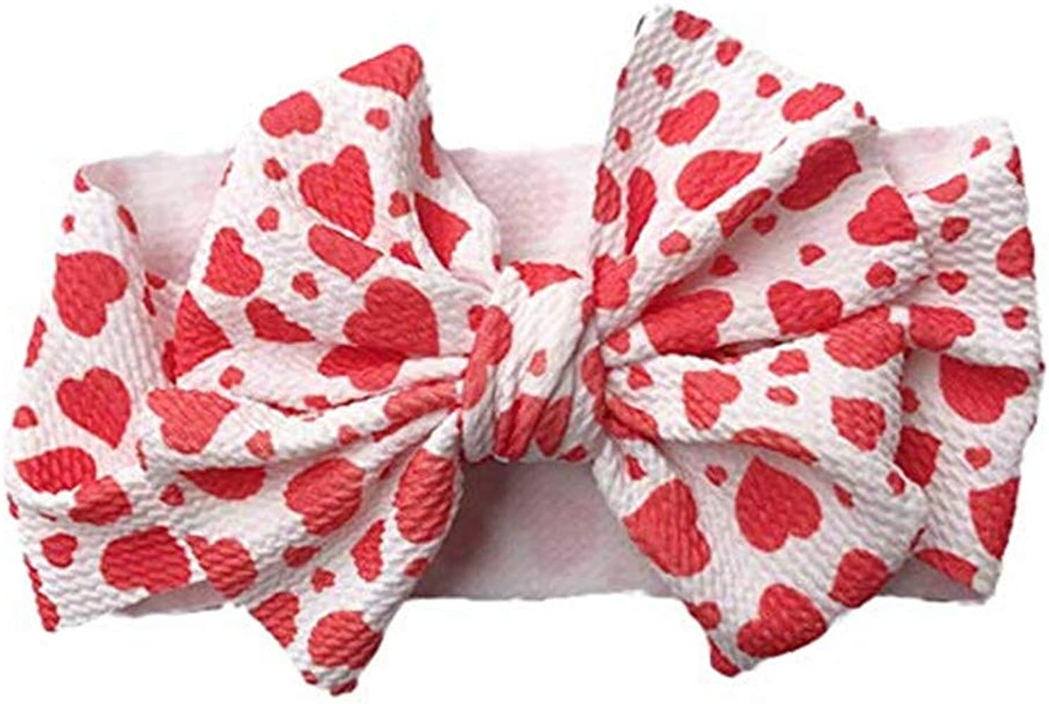 Red Bow for Babies /& Girls Gingham Hair Bow Nylon Headband Barrettes or Clips