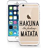 iPhone 5 5S SE Case by licaso® for the iPhone 5 5S SE TPU Case HAKUNA the fucking MATATA Lion King Clear Protective Cover iphone5 Mobile Phone Sleeve Bumper (HAKUNA the fucking MATATA)