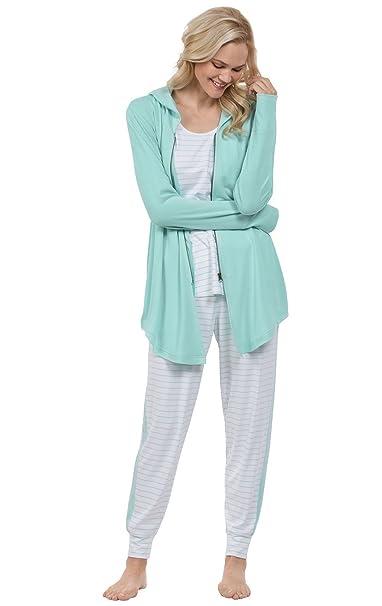 Amazon.com: PajamaGram - Pijama para mujer (3 piezas), color ...