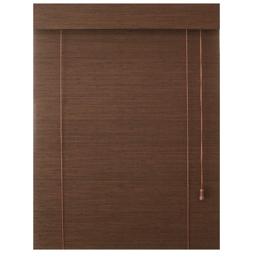 ブラインド 和風木製ロールブラインド、パティオ望楼屋外用防水停電、竹の陰影、カットオフ、マルチサイズ (サイズ さいず : 135×225 cm (53.1
