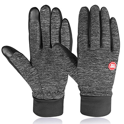 (HiCool Winter Gloves, Touch Screen Gloves Winter Warm Thermal Gloves Running Gloves Cold Weather Gloves Driving Riding Cycling Gloves Outdoor Sports Gloves for Men and)