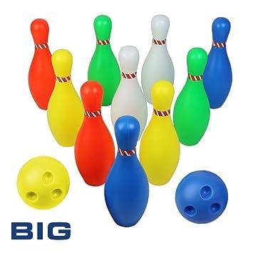 7dd9cb9daacbb Kinder Bowling Spiel Spielzeug-Spiel Kinder Bowling-Set Party Spielzeug mit  2 Ball und