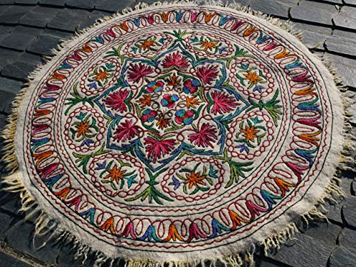 Embroidered Carpet - Round rug