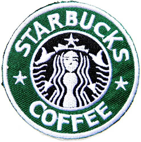 STARBUCKS COFFEE Logo Mermaid Symbol Jacket T shirt Patch Sew Iron on Embroidered Sign Badge Costume (Starbucks Coffee Costume)