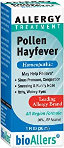 bioAllers Pollen Hayfever Homeopathic Allergy Treatment for Congestion, Sneezing, Runny Nose & Itchy Eyes | 1 Fl Oz