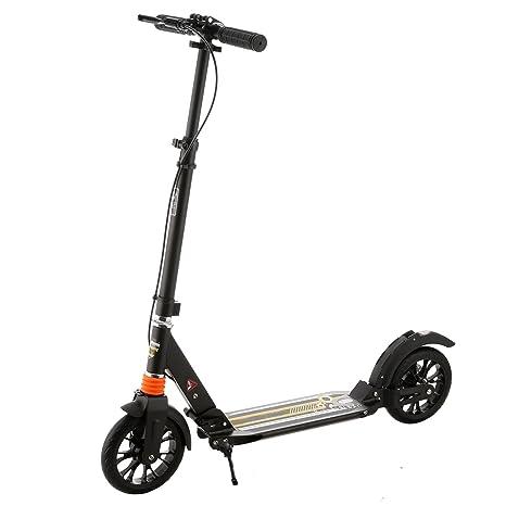 BUSYALL Patinetes Freestyle Plegable Portátil Pro Scooter Monopatín Kickboard para Adolescentes Adultos con Suspensión Dual, Caballete, 2 Ruedas de ...