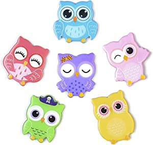 Fridge Magnets 6 Pcs Cute Cartoon Owl Refrigerator Magnets for Adults Kids School Locker Office Whiteboard Kitchen Home Menu Message Board Funny Strong Fridge Decorations Magnets Pack - Mixed Colour