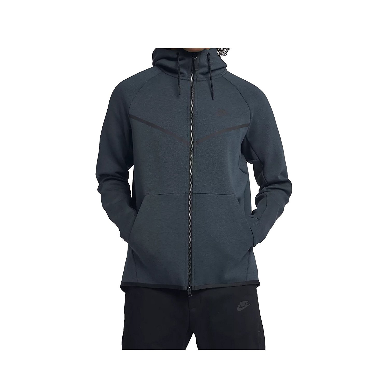 7b0ace8ab227 Galleon - Nike Mens Sportswear Tech Fleece Windrunner Hooded Sweatshirt  Deep Jungle Heather Black 805144-328 Size Small
