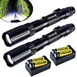 2Sets Garberiel Police 20000 Lumens 5Modes T6 LED Flashlight + 18650&Charger USA, flashlights high lumens,flashlight rechargeable