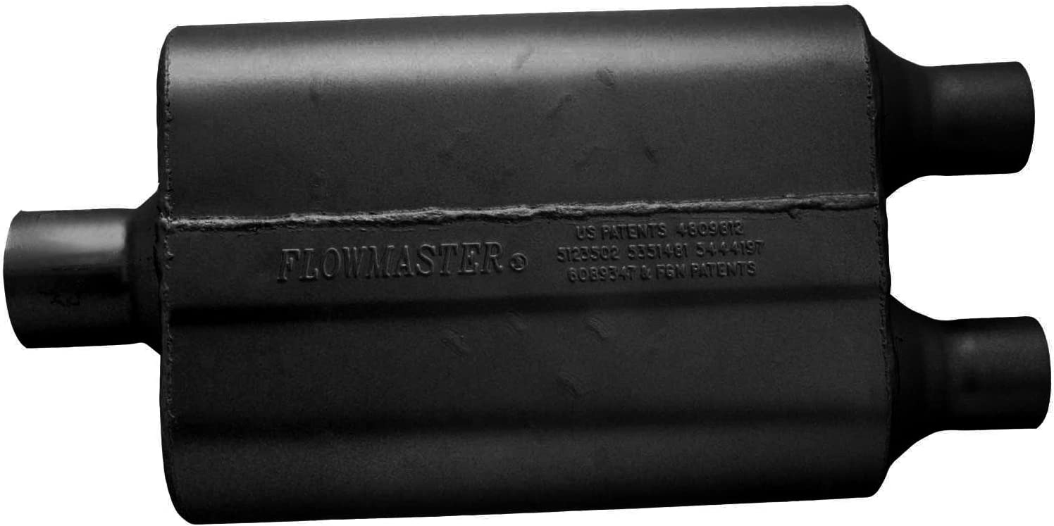 2.50 Center IN Aggressive Sound Flowmaster 9425402 40 Delta Flow Muffler 2.00 Dual OUT
