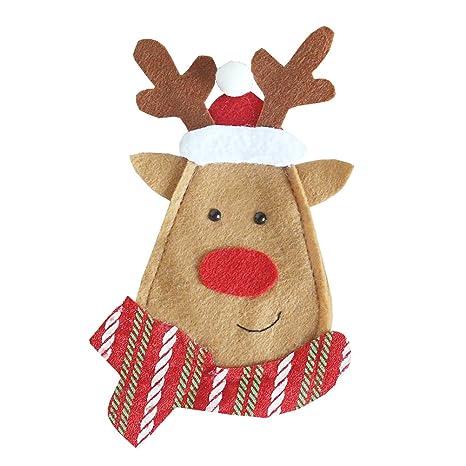 OUNONA Navidad vajilla organizador cuchillería bolsos ...