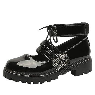 Zapatos,Dragon868 Otoño Vintage Mujeres Adolescentes Middle High ...