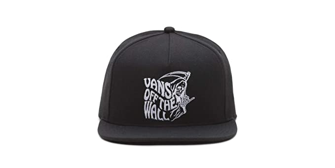 Image Unavailable. Image not available for. Color  Vans Shaka Reaper  Snapback Hat Black 8f55cdf50490