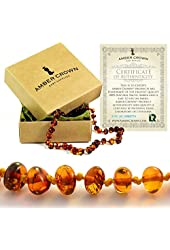 Amber Crown Baltic Amber Teething Necklace - Honey