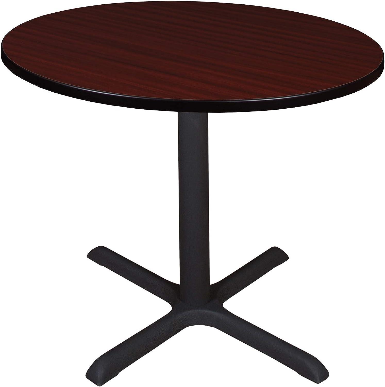"""Regency Cali Round Breakroom Table, 36"""", Redwood"""