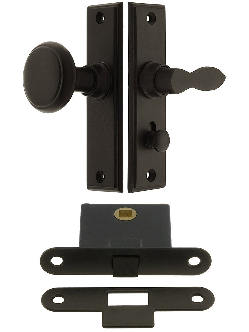 Deltana Sdml334u5 New York Screen Door Mortise Latch Set With 1 12