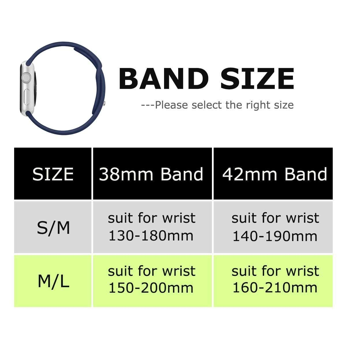 Winso Silicone Watch Band 38mm 40mm 42mm 44mm S/M M/L for Series 4/3/2/1 (Rose Red, 38(40) mm S/M)