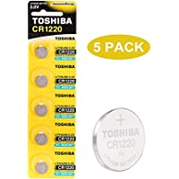Toshiba CR1220 3V Lithium Coin Cell Battery Pack of 5 batteries