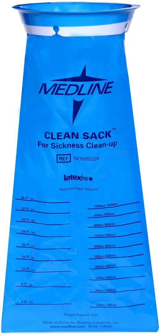 Medline Emesis Bags, Blue, 24 Count