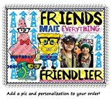 1/4 SheetSpongebob Squarepants and Friends Add Your Picture Photo Frame Edible Image Cake Topper