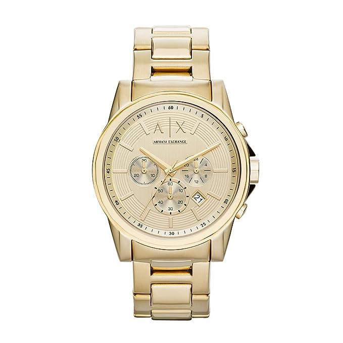 Reloj de pulsera en color dorado a|x Armani intercambio