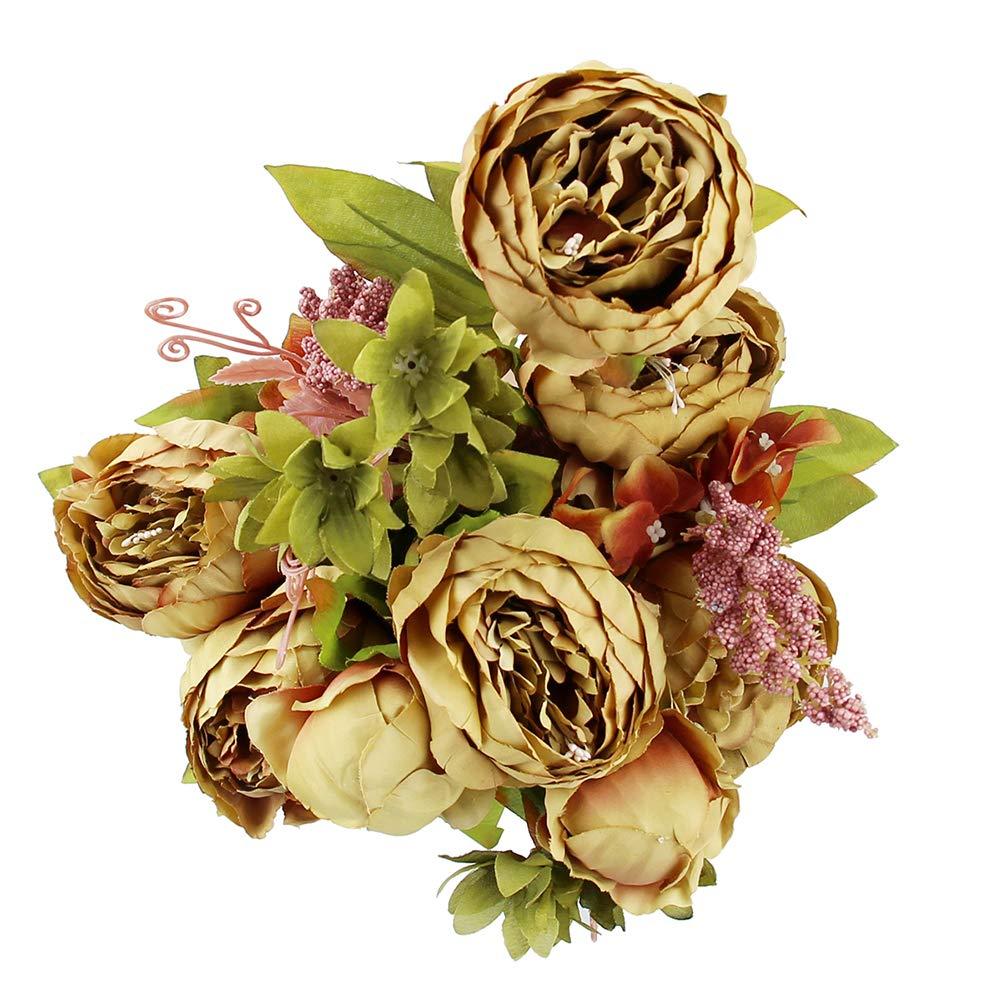 NiceButy pivoines européenne Soie Artificielle Fleur Pivoine Antique Part pour Banquet de Mariage à la Maison Produits ménagers