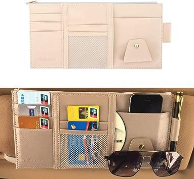 Car Sun Visor Point Pocket Organizer Pouch Bag Pocket Card Storage CD Holder XDU